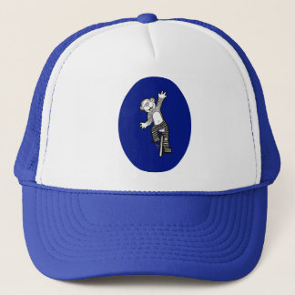 Fun Unicycle Monkey Trucker Hat