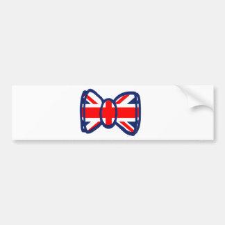 Fun Union Jack Bow Tie Art Bumper Sticker