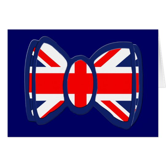 Fun Union Jack Bow Tie Art Card