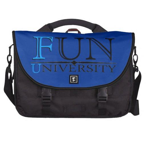 Fun University hidden message funny laptop bag