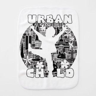 FUN URBAN CHILD CITYSCAPE ILLUSTRATION BABY BURP CLOTHS