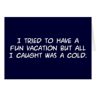 Fun Vacation Note Card