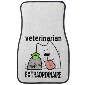 Fun Veterinarian Extraordinaire Car Mat