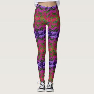 Fun Vibrant Colourful Leggings