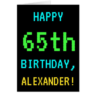 Fun Vintage/Retro Video Game Look 65th Birthday Card