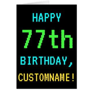 Fun Vintage/Retro Video Game Look 77th Birthday Card