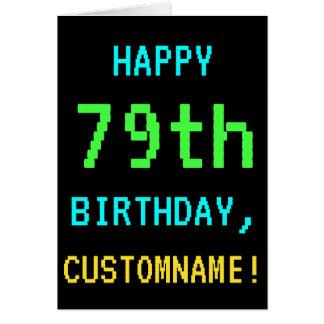 Fun Vintage/Retro Video Game Look 79th Birthday Card