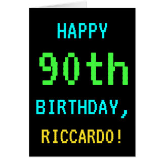 Fun Vintage/Retro Video Game Look 90th Birthday Card