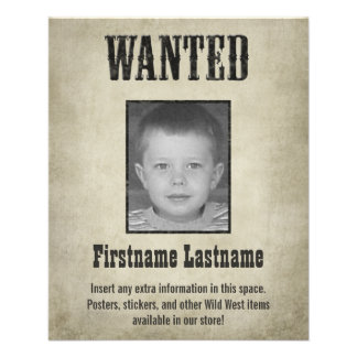 Fun WANTED poster design 11.5 Cm X 14 Cm Flyer