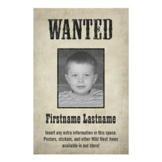 Fun WANTED poster design 14 Cm X 21.5 Cm Flyer