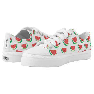 Fun Watermelon Pattern Low Tops