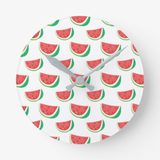 Fun Watermelon Pattern Round Clock