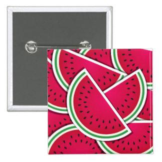 Fun Watermelon Wedge Design Pinback Button