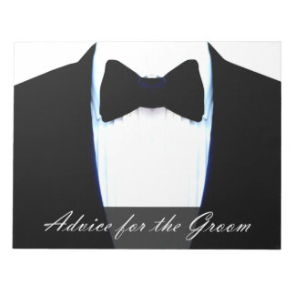 Fun Wedding Game Advice For The Groom Tuxedo Notepad