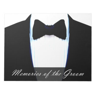 Fun Wedding Game Memories Of The Groom Tuxedo Notepad
