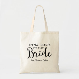 Fun Wedding Tote Bag-Bossy Bride-Canvas Budget