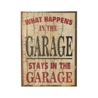 Fun - What Happen's In Garage Wood Poster