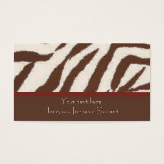 Fun & Whimsical animal print business cards