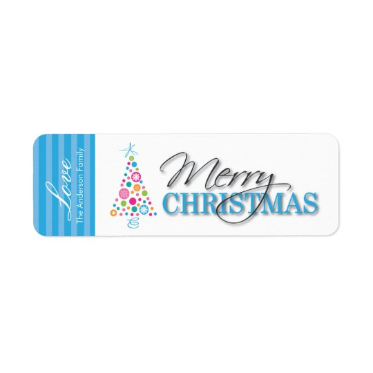 Fun Whimsical Christmas Stickers Return Address Label