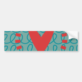 Fun Whimsical Doodle Heart and Swirls Bumper Sticker