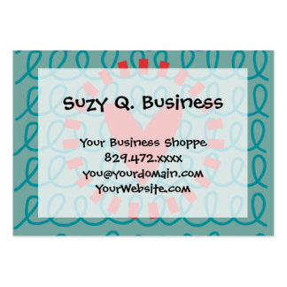 Fun Whimsical Doodle Heart and Swirls Large Business Cards (Pack Of 100)