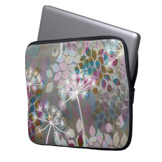 Fun Whimsical floral neoprene case