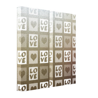 Fun Whimsical Love and Hearts Stretched Canvas Prints