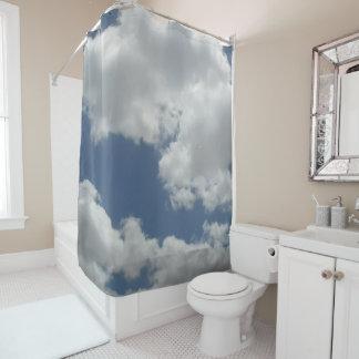 Fun White Clouds Photo Print Design Shower Curtain