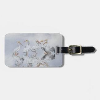 Fun White Pelican Luggage Tag