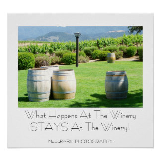 Fun Winery Poster! Poster