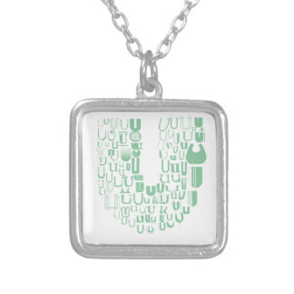 Fun with Fonts U Silver Plated Necklace