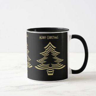 Fun with Picture Fonts - Gold Christmas Tree Mug