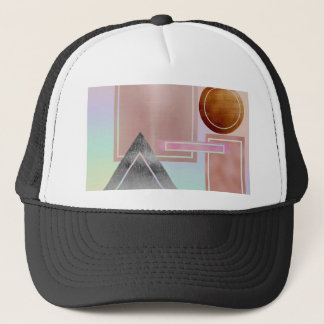 Fun with shapes.metallic,gold,rose gold,silver, trucker hat