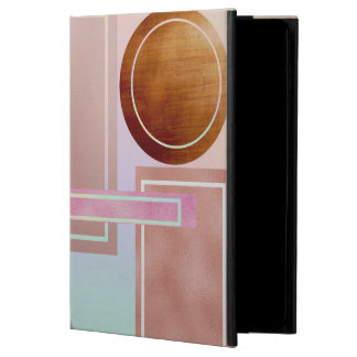 Fun with shapes,metallic,gold,rose gold,silver,ult powis iPad air 2 case