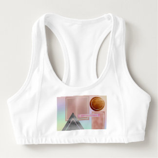 Fun with shapes,metallic,gold,rose gold,silver,ult sports bra