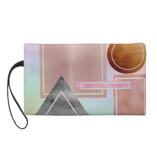 Fun with shapes,metallic,gold,rose gold,silver,ult wristlet