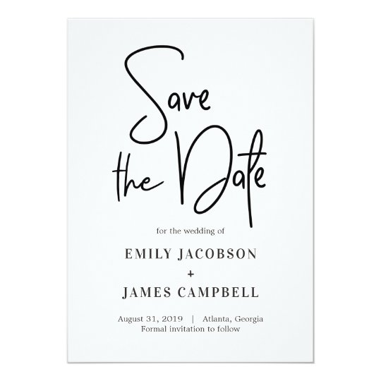 Fun Writing Save The Date Card