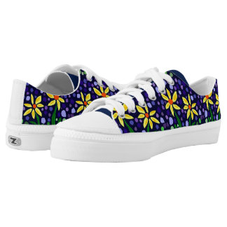 Fun Yellow Daisy Abstract Art Shoes Printed Shoes
