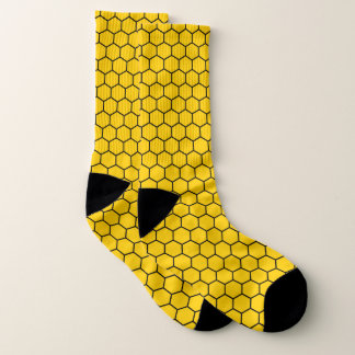 Fun Yellow Honeycomb Pattern Socks