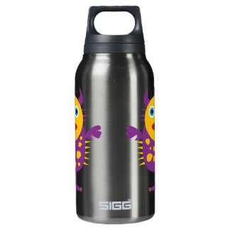 Fun Yellow Purple Monster Creature for Kids 10 Oz Insulated SIGG Thermos Water Bottle