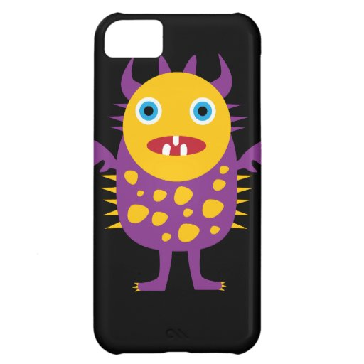 Fun Yellow Purple Monster Creature Gifts for Kids iPhone 5C Cases