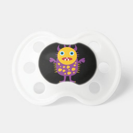 Fun Yellow Purple Monster Creature Gifts for Kids Pacifiers