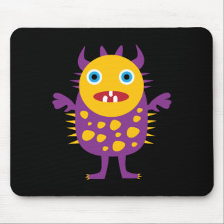 Fun Yellow Purple Monster Creature Gifts for Kids Mouse Pad