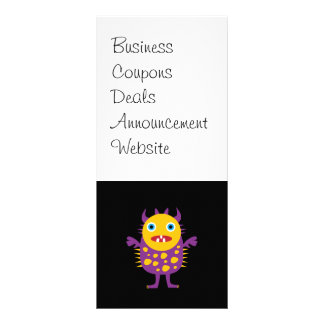 Fun Yellow Purple Monster Creature Gifts for Kids Customized Rack Card