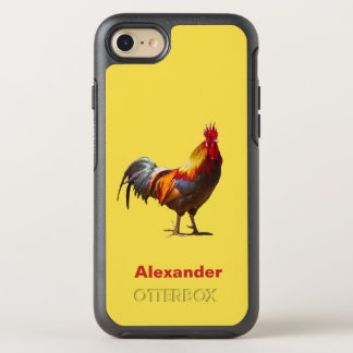 Fun Yellow Rooster OtterBox Symmetry iPhone 8/7 Case