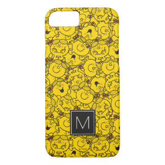 Fun Yellow Smiles Pattern | Monogram iPhone 7 Case
