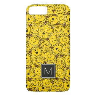 Fun Yellow Smiles Pattern   Monogram iPhone 8 Plus/7 Plus Case