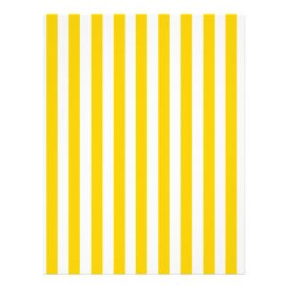 Fun Yellow Stripes Pattern Custom Flyer