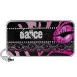 Fun Zebra Doodle Speaker Cover Lips 'n Lace Dance