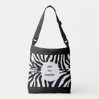 FUN Zebra with Leather Look All-Over-Print Crossbody Bag
